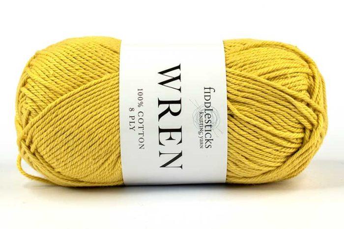 Fiddlesticks Wren Cotton 8 ply Banana