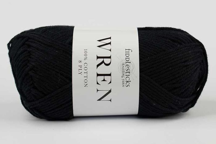 Fiddlesticks Wren Cotton 8 ply Black