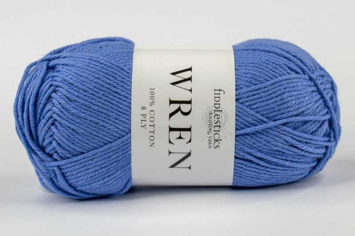 Fiddlesticks Wren Cotton 8 ply Cornflower