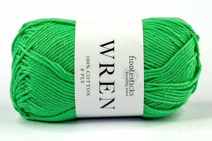 Fiddlesticks Wren Cotton 8 ply Green