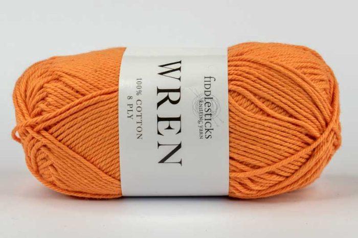 Fiddlesticks Wren Cotton 8 ply Mandarin