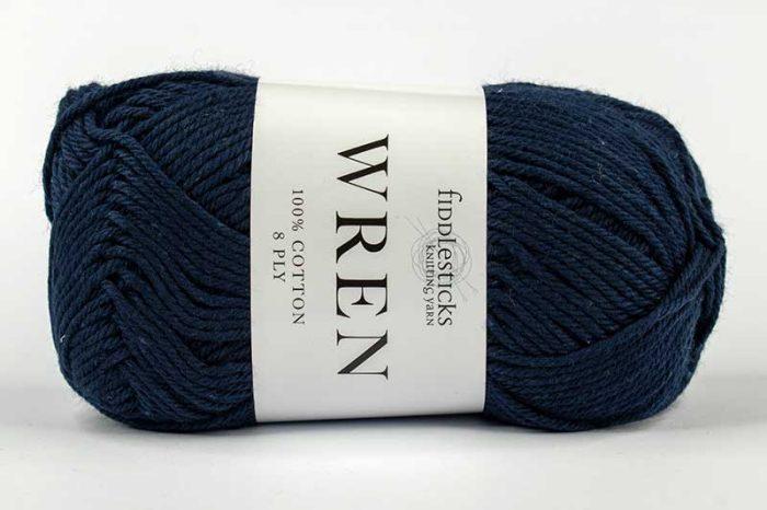 Fiddlesticks Wren Cotton 8 ply Navy