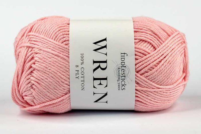 Fiddlesticks Wren Cotton 8 ply Peony