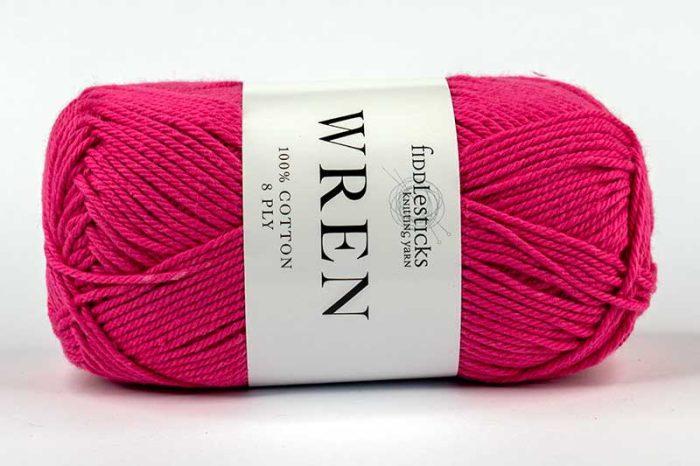 Fiddlesticks Wren Cotton 8 ply Rouge