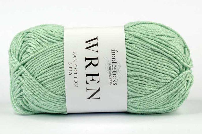 Fiddlesticks Wren Cotton 8 ply Sage