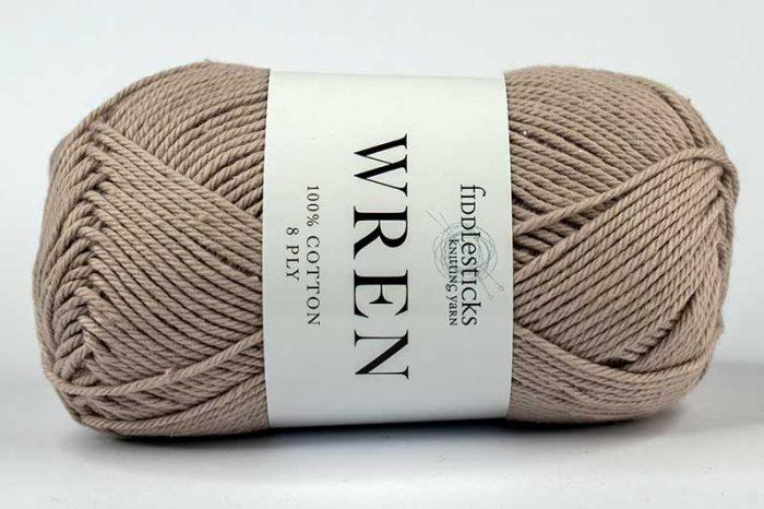 Fiddlesticks Wren Cotton 8 ply Stone