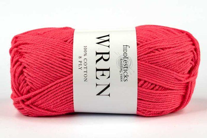 Fiddlesticks Wren Cotton 8 ply Watermelon