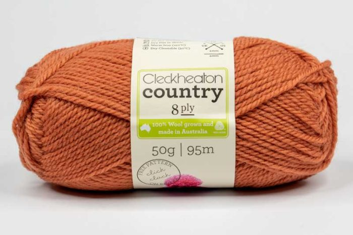 Cleckheaton Country 8 ply Copper
