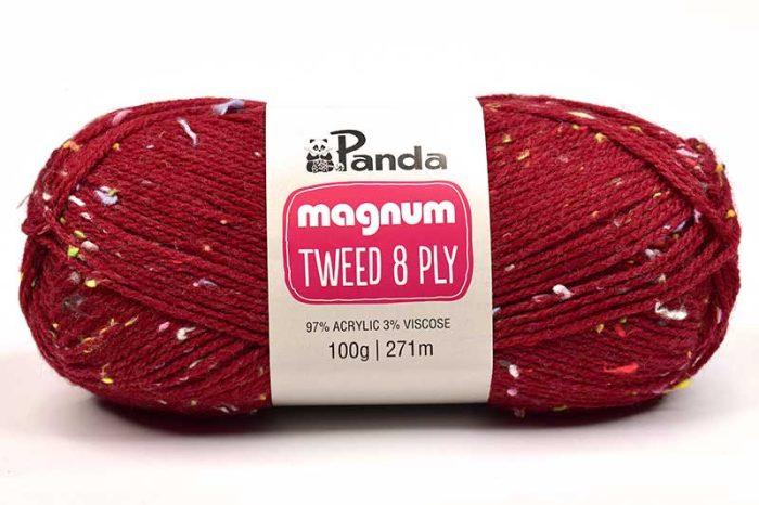 Panda Magnum Tweed 8 ply Rainbow Red