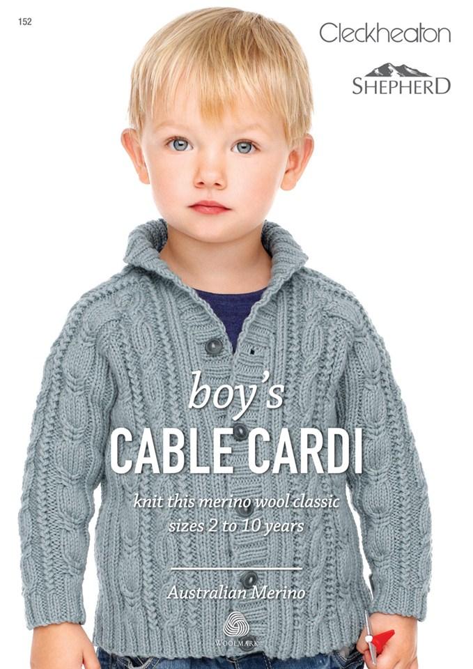 Boys Cable Cardi