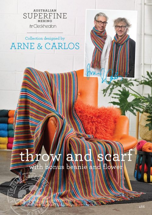 Cleckheaton Superfine Arne & Carlos Throw and scarf
