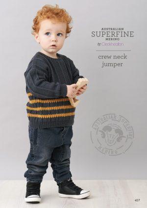 Cleckheaton Superfine Crew Neck Jumper