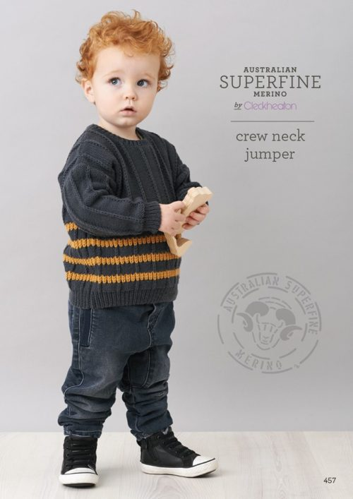 Cleckheaton Superfine Crew Neck Jumper