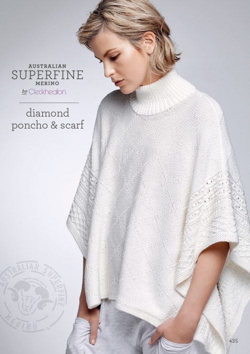 Cleckheaton Superfine Diamond Poncho and Scarf