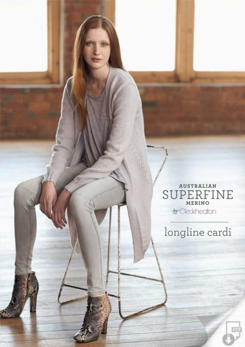 Cleckheaton Superfine Long Line Cardigan