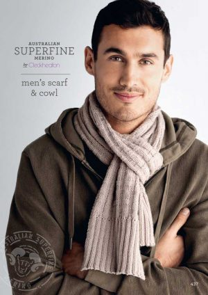 Cleckheaton Superfine Men's scarf and cowl
