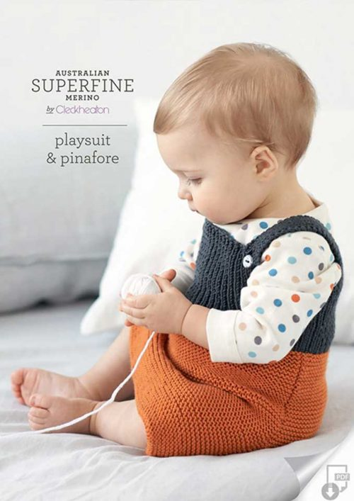 Cleckheaton Superfine Playsuit and Pinafore