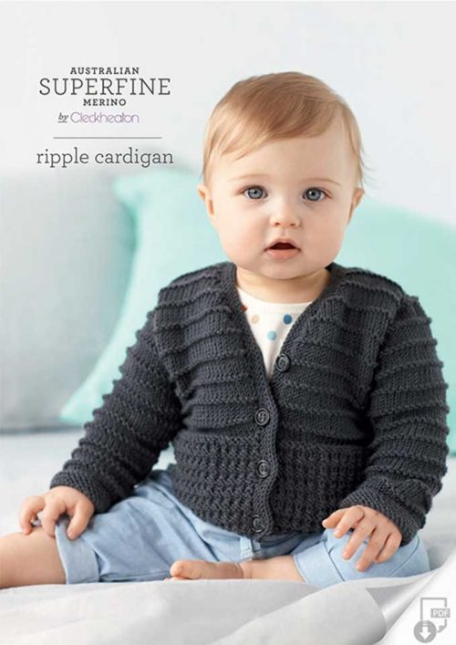 Cleckheaton Superfine Ripple Cardigan