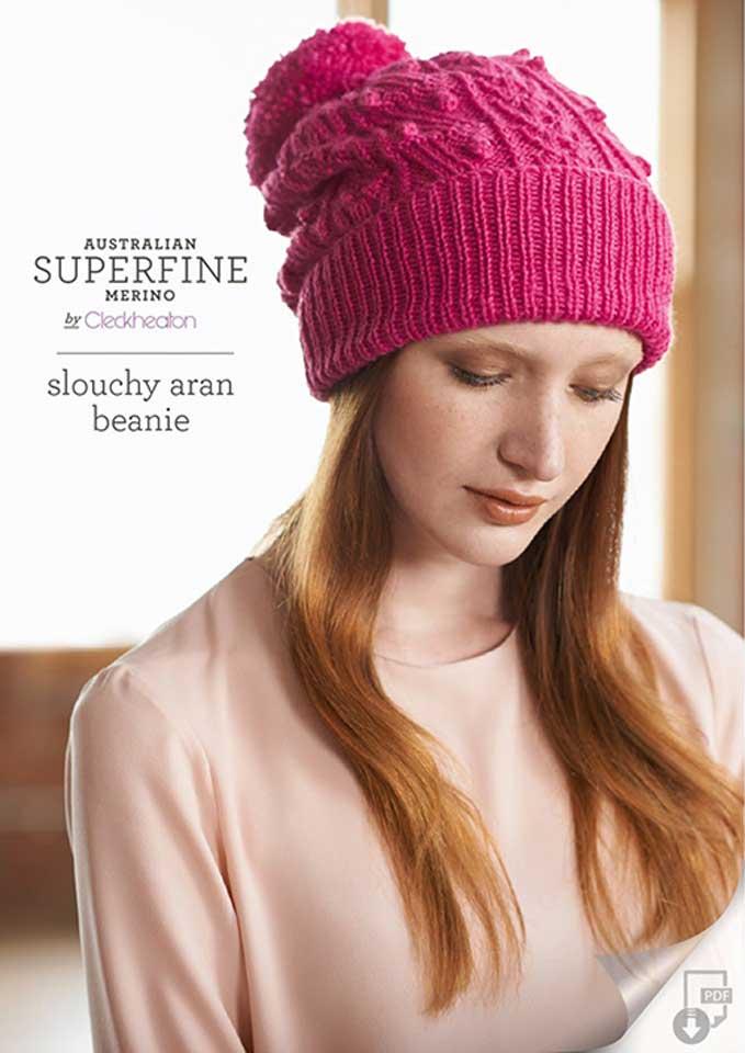 Cleckheaton Superfine Slouchy Aran Beanie