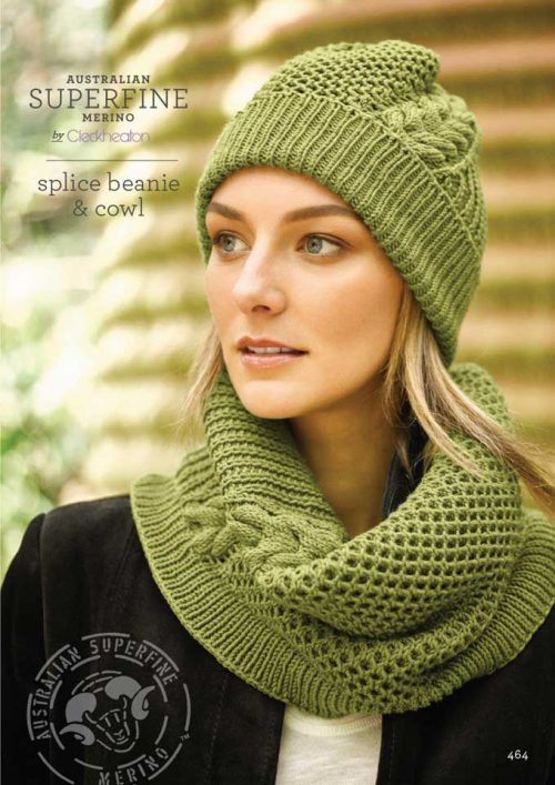 Cleckheaton Superfine Splice Beanie and Cowl