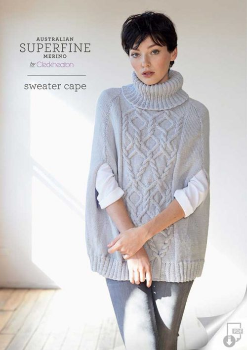 Cleckheaton Superfine Sweater Cape