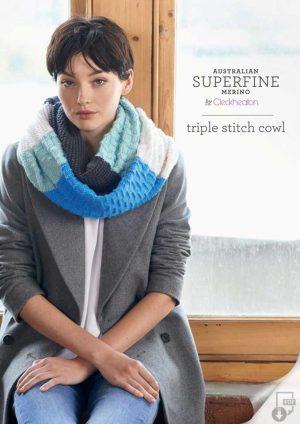 Cleckheaton Superfine Triple Stitch Cowl