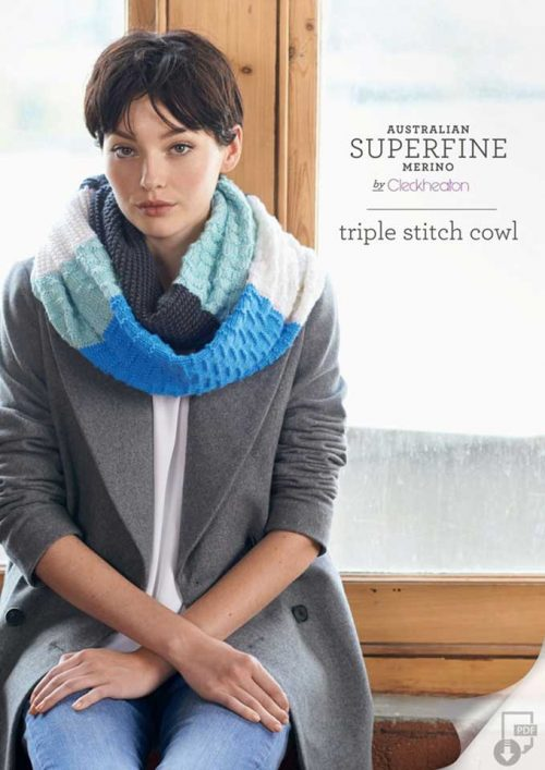 Cleckheaton Superfine Triple Stitch Cowl