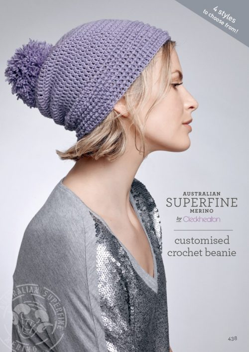 Cleckheaton Superfine Customised Crochet Beanie