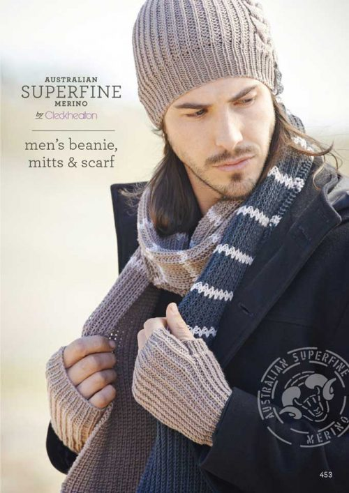 Cleckheaton Superfine Men's Beanie Mitts and scarf