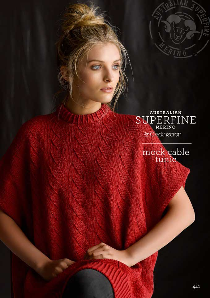 Cleckheaton Superfine Mock Cable Tunic