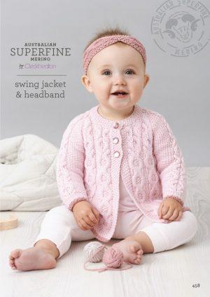 Cleckheaton Superfine Swing Jacket and Headband
