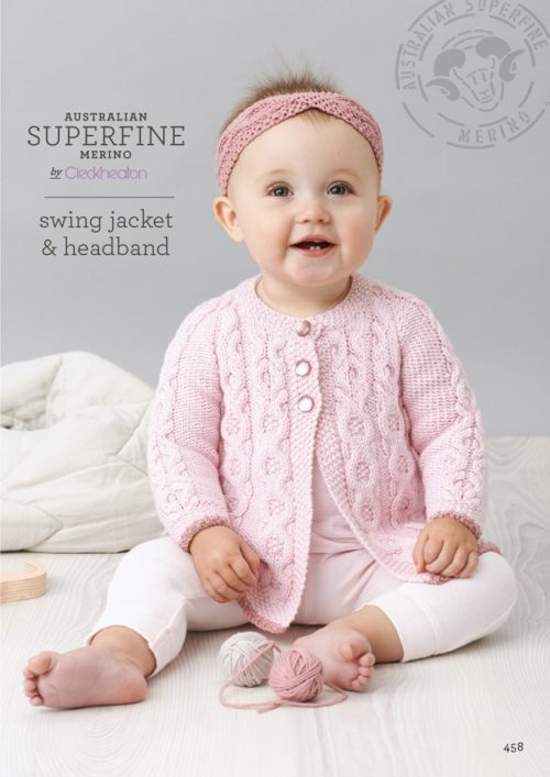 Cleckheaton Superfine Swing Jacket and Headband