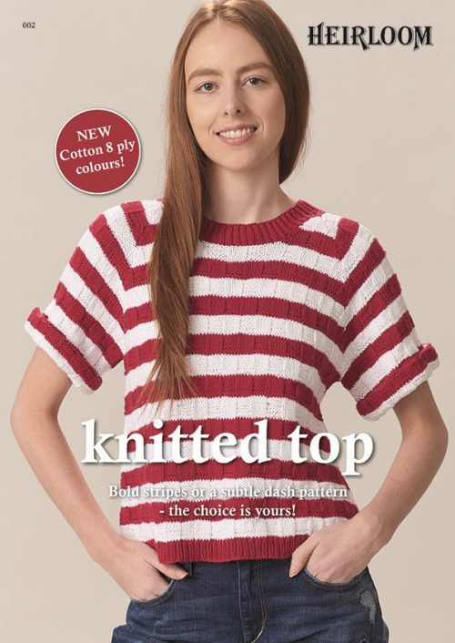 Heirloom Knitted top - Cotton 8 ply