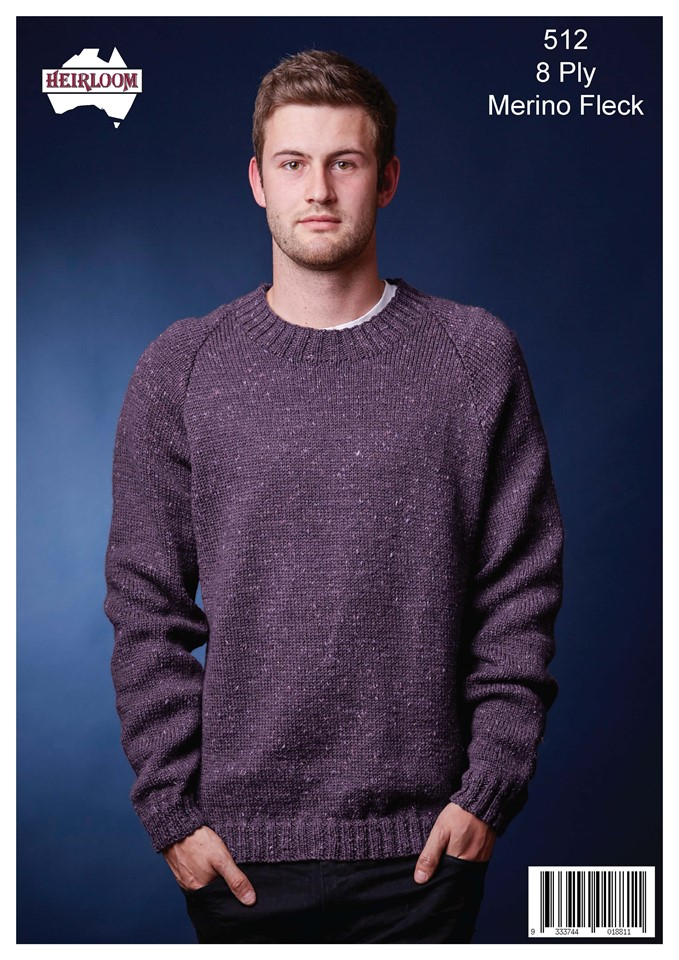 Heirloom Mens round neck jumper
