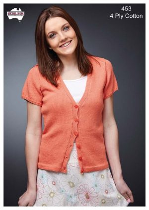Heirloom Ladies Short sleeve cardigan