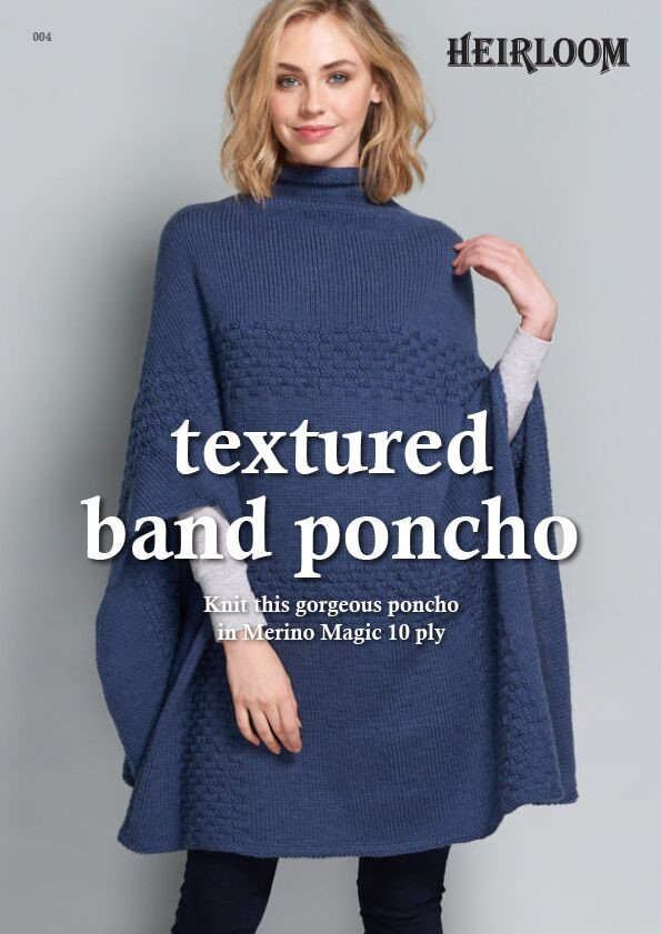 Heirloom Textured Band Poncho