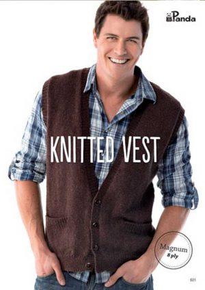 Panda Knitted Vest