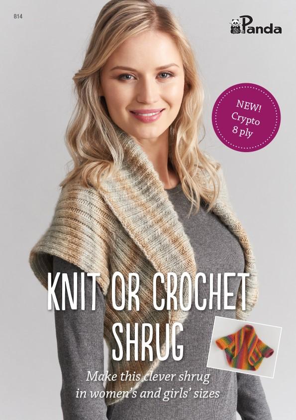 Panda Knit or Crochet Shrug