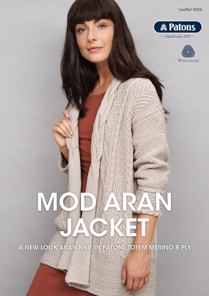 Patons Mod Aran Jacket
