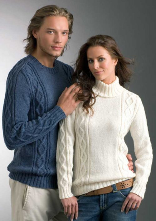 Patons Totem Diamond Saddle Sweater