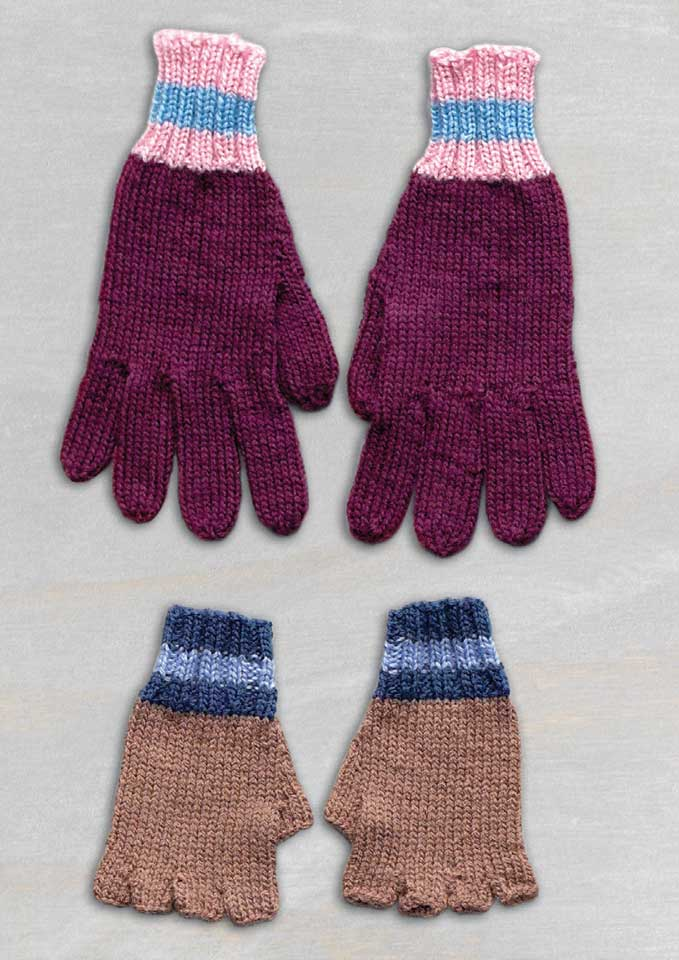 Patons Bluebell 5 ply Seamless Family Mitts or Gloves