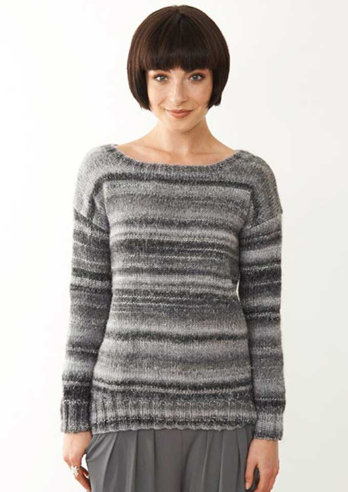Patons Cosmos 12 ply Jumper with Shaped Lower Front Edge