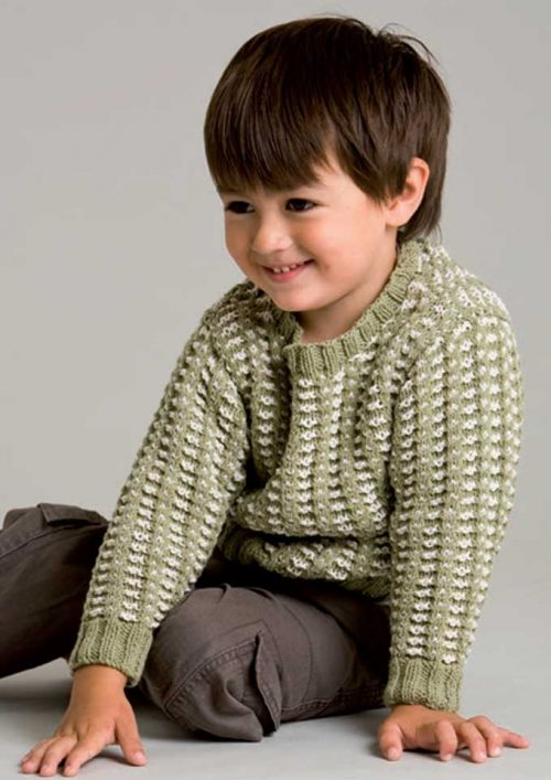 Patons Cotton Blend 8 Ply Textured Jumper Kids