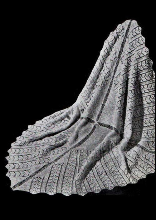 Patons Dreamtime 4 ply Rose Leaf Baby Shawl