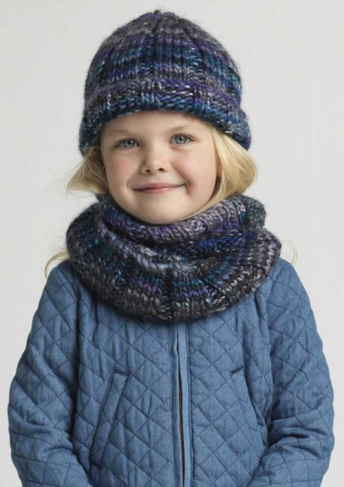 Patons Gembrook Ribbed Beanie and Cowl