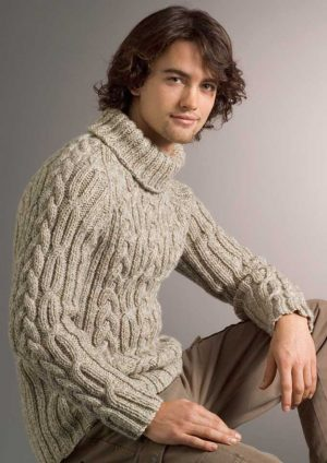 Patons Inca Cable & Rib Raglan Sweater
