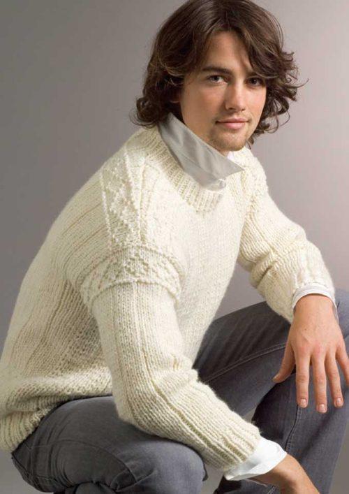 Patons Inca Rib Guernsey Sweater