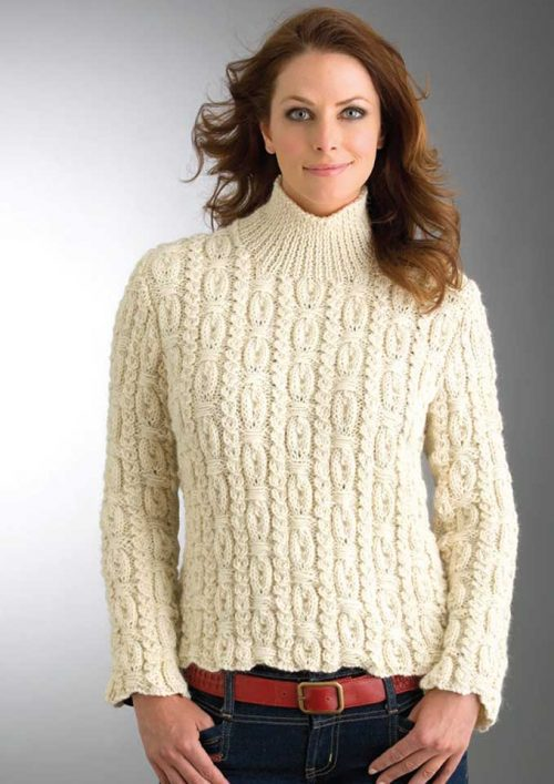Patons Jet 12 Ply Ornamental Rib Sweater