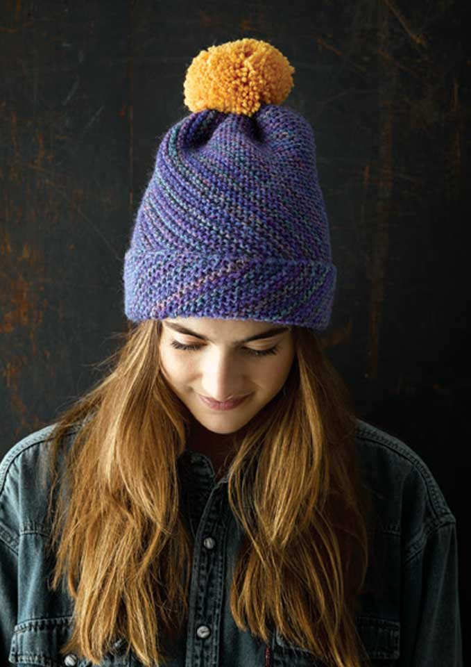 Patons Jet Pixel 12 Ply Textured Beanie