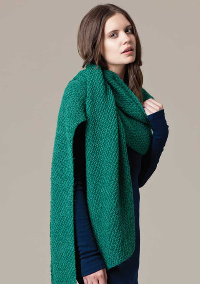 Patons Jet Textured Scarf